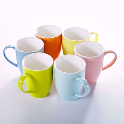 "Picture of Panbado 6 Colors 5"" (12.5 ounce) Porcelain Mugs Cups for Coffee & Tea, Set of 6"